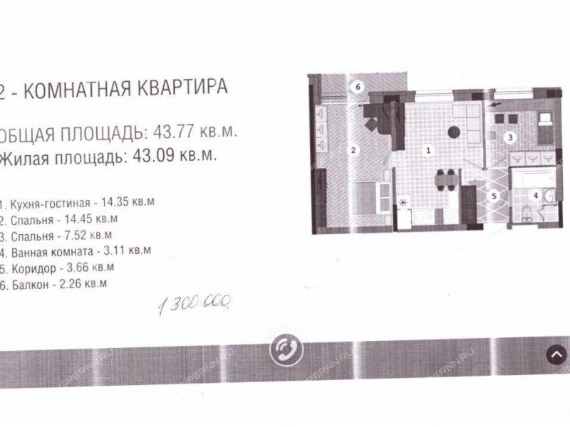 двухкомнатная квартира на  посёлок Новинки