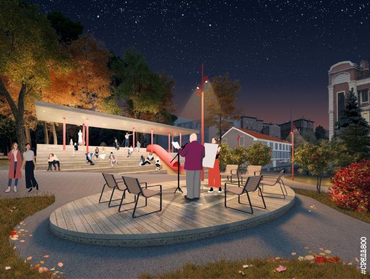 Новый сквер Свердлова: амфитеатры, сцена и слуховая труба