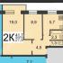 двухкомнатная квартира на улице 1-й микрорайон Щербинки дом 28